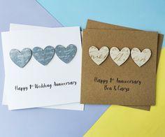 1st anniversary card Paper wedding anniversary card Handmade | Etsy Happy Anniversary Husband, 1st Anniversary Cards, Valentine Day Cards, Valentines, Romantic Cards, Hand Logo, Wedding Paper, Gifts For Husband, Greeting Cards Handmade