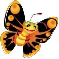 Cute Butterfly Cartoon Clip Art Images On A Transparent Background Cartoon Butterfly, Butterfly Clip Art, Butterfly Images, Cute Butterfly, Beautiful Butterflies, Colouring Pics, Cute Clipart, Cute Images, Cute Cartoon