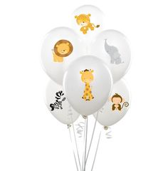 Zoo animal balloon stickers INSTANT by MyHeartnSoulBoutique Safari Birthday Party, Animal Birthday, Baby Party, Baby Shower Parties, Baby Shower Themes, Baby Boy Shower, Baby Shower Decorations, Birthday Ideas, Balloon Animals
