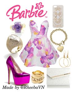 """""""Barbie 3"""" by rheebavn ❤ liked on Polyvore featuring Mode, Chanel, Red Kiss, Ally Fashion, Gucci, Jimmy Choo, Michael Kors und Skinnydip"""