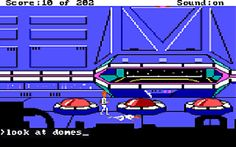 Snap from Space Quest: Chapter 1 - The Sarien Encounter, a computer adventure game by Sierra 1986