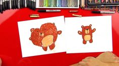 How To Draw A Cartoon Bear (For Young Artists)