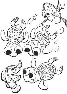 Disegni da colorare per bambini. Colorare e stampa Alla ricerca di Nemo 70