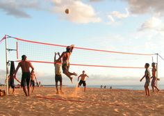 guys playing volleyball #volleyball