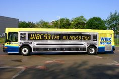 Full bus wrap for WIBC 93.1 FM ... All News & Talk