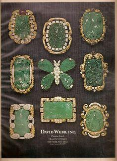 Jewelry Advertisement David Webb N Y 1971