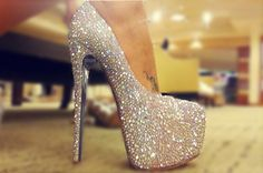These sparkly shoes might kill my feet, but it's worth it!