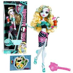 """Mattel Year 2011 Monster High Skull Shores Series 10 Inch Doll - Lagoona Blue """"Daughter of the Sea Monster"""" with Tiki Cup, Headband, Earrings, Map Card, Hairbrush and Doll Stand (W9182) by Mattel. $31.95. Mattel Year 2011 Monster High Skull Shores Series 10 Inch Doll - Lagoona Blue """"Daughter of the Sea Monster"""" with Tiki Cup, Headband, Earrings, Map Card, Hairbrush and Doll Stand (W9182)"""