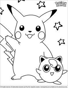 Free Printable Pikachu Coloring Pages For Kids Coloring Pages