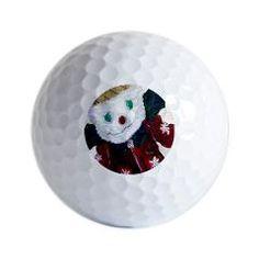 Jingle Bear Golf Balls by Zarya Parx Studio