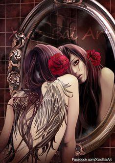 ✯ Caution of the Mirror .:☆:. Artist Zhang Xiao Bai ✯