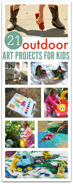 Get outside and take art with you!! 21 easy outdoor art project ideas for kids.