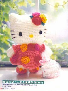 Hello Kitty-Knit Dolls & Goods-Crochet pattern Japanese-Craft E-Book-amigurumi patterns-Japanese Cra