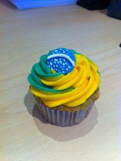 Cupcake Brasil Copa del Mundo 2014