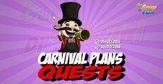 Carnival Plans Quests  Inizio previsto per il 25/02/2016 alle ore 13:30 circa Scadenza il 10/03/2016 alle ore 19:00 circa  Come va Contadino? Ho sentito che sei un esperto nellorganizzazione delle feste! Sembra che io possa avvalermidel tuoaiuto. Vuoi darmiuna mano?    Mancano 16 giorni 6 ore 43 minuti 30 secondi alla scadenza della quest!      Quest #1  Fatti mandare dai tuoi vicini 7 Carnival Tickets; con gli sconti SmartQuest dovrebbero servirne un massimo di 1 (clicca sul tasto Ask…