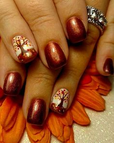 "If you're unfamiliar with nail trends and you hear the words ""coffin nails,"" what comes to mind? It's not nails with coffins drawn on them. It's long nails with a square tip, and the look has. Winter Nail Art, Autumn Nails, Winter Nails, Thanksgiving Nail Designs, Thanksgiving Nails, Thanksgiving Turkey, Beach Nail Designs, Fall Nail Art Designs, Do It Yourself Nails"