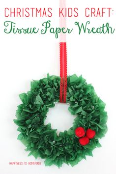 These quick and easy Christmas kids crafts can be made in under 30 minutes! No special tools or skills needed, so ANYONE can make these fun holiday crafts! Christmas crafts for kids. Kids Crafts, Christmas Crafts For Kids To Make, Christmas Paper, Simple Christmas, Kids Christmas, Holiday Crafts, Christmas Wreaths, Christmas Decorations, Preschool Christmas