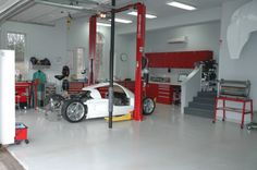 Show off your lifts! - Page 14 - The Garage Journal Board Garage Loft, Barn Garage, Man Cave Garage, Garage Shop, Garage Workshop, Garage Plans, Dream Garage, Monster Garage, Ultimate Garage