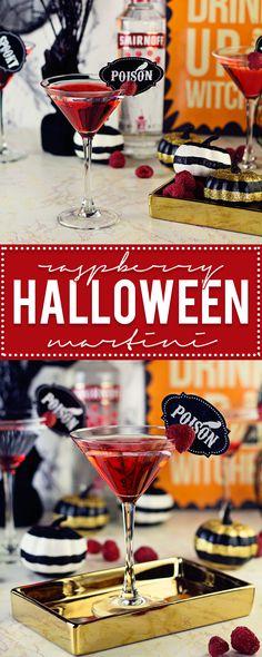 Raspberry Halloween Martini