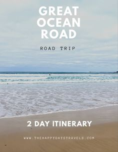 This is a 2 day itinerary for driving the Great Ocean Road in Australia. 243km of open road for you to discover!! This includes the best things to do on Great Ocean Road, where to stop, how to see Koalas and Kangaroos and where to camp on GOR. Go on this epic 2 day road trip for one of the most scenic drives in the world! #GOR #campgor #koalas #australia #downunder #visitvictoria #melbourne #australiatravel #visitaustralia #straya Working Holiday Visa, Working Holidays, Visit Australia, Australia Travel, Road Trip Hacks, Road Trips, Visit Victoria, Bus Travel, Self Driving