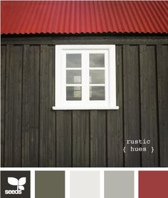 rustic hues. Trying to think of new color schemes with my favorite red.
