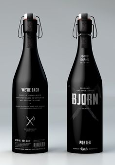 """This is my dream brief. Excellently done """"Blood Thirsty Brewing"""" by Caroline Slåttland Solheim, a student. On Packaging of the World - Creative Package Design Gallery Wine Design, Bottle Design, Design Design, Truck Design, Graphic Design, Design Ideas, Bottle Packaging, Brand Packaging, Design Packaging"""