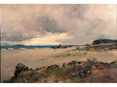 Casciaro Giuseppe (Ortelle - LE 1863 - Napoli 1941) Pineta d'Ischia olio su tela cm 70x100