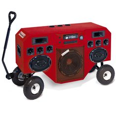 The Mobile Blastmaster- rolls on pneumatic tires over any terrain.