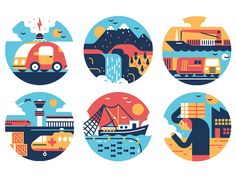 A series of icons we did recently for Forbes Japan.