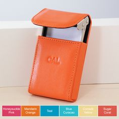 Personalized Leather Business Card Case Gift