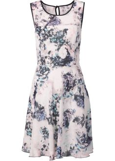 Klänning med bara axlar rosagullila, mönstrad BODYFLIRT