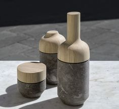 Bouteille - Brun - Marbre - Gum Design - Decofinder
