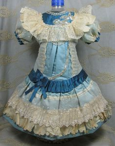 BEAUTIFUL ANTIQUE DRESS FOR A BISQUE FRENCH OR GERMAN DOLL in Dolls & Bears, Dolls, Clothes & Accessories | eBay