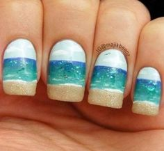 Summer is the most creative era and you understand this and the many impressive nail designs to move. The colors that prevail in most nail art designs, is bright and bold and through them you can leave your vivacious personality to shine!