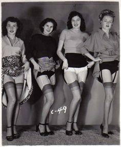 tagged as: vintage. 1950s. 50s. skirt hike. stockings. legs