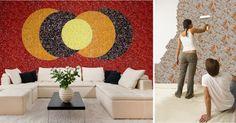 Tapet lichid pareri si modele Silk Plaster, Contemporary, Interior Design, Rugs, Wallpaper, Home Decor, Carpet, Texture, Nest Design