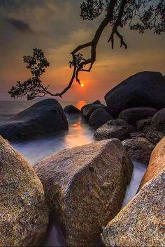 sunrise -sunset view of nature Beautiful Sunset, Beautiful World, Beautiful Places, Nature Pictures, Cool Pictures, Beautiful Pictures, Pictures Images, Beautiful Images Of Nature, Foto Nature