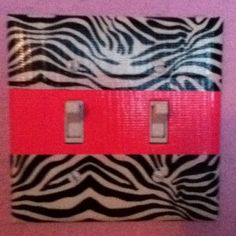 Hannah's Room -Duct Tape to make a light switch more fun and not look boring...who would've thought!