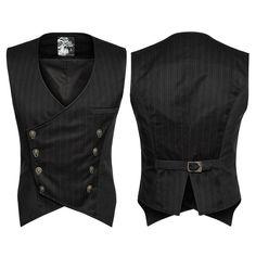 Mens Punk Rave Gothic Steampunk Vest Vintage Gentlmen Clothes Waistcoat Tops New Indian Men Fashion, Mens Fashion Suits, Men's Fashion, Latex Fashion, Gothic Fashion, Chaleco Casual, Steampunk Vest, Gothic Steampunk, Men's Waistcoat