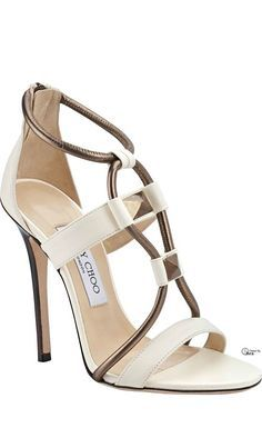 Ivory Wedding Shoes with Pretty Details - Jimmy Choo Spring 2014 *More JC. with ♥ from JDzigner www. Schnür Heels, Pumps, Stilettos, High Heels, Sexy Heels, Pretty Shoes, Beautiful Shoes, Cute Shoes, Me Too Shoes