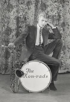 David Bowie is: About the Exhibition - Victoria and Albert Museum...Promotional shoot for The Kon-rads    Promotional shoot for The Kon-rads  1963  Photograph by Roy Ainsworth  Courtesy of The David Bowie Archive 2012  Image © V Images