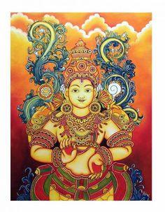 - Kerala Mural Painting, Madhubani Painting, Traditional Paintings, Traditional Art, Ganesha Painting, Ganesha Drawing, Buddha Painting, Elephant Art, Indian Elephant
