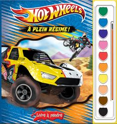 Phidal : Livres à peindre - Hot Wheels * À plein régime! - 2-7643-2875-3 Hot Wheels, Monster Trucks, Comic Books, Comics, Cover, Full Throttle, Livres, Slipcovers, Comic Book