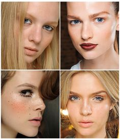 I love that freckles were such a huge trend for spring runway shows!! For all those who have none, they stencil them in!!