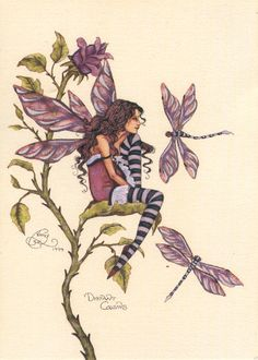 Click for a larger view Amy Brown Fairies, Beautiful Fantasy Art, Beautiful Fairies, Beautiful Things, Dragonfly Art, Dragonfly Tattoo, Fairy Jewelry, Jewelry Art, Love Fairy