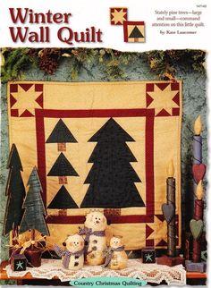 Winter Wall Quilt   Creative Scrap Wall Paper Pieced Quilt Pattern