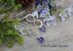 Handmade Sterling Silver Infinity Earrings Swarovski Infinity