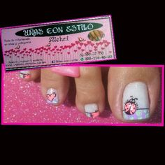 Hermosas Cute Pedicure Designs, Cool Nail Designs, Cute Pedicures, Eyeliner, 98, Nail Art Galleries, Toe Nails, Hair And Nails, Glitter