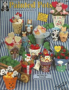 Painted Pots Decorative Tole Painting Craft Book