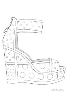 Coloring Book Page For Adults Anti Stress Hippie Sneakers In